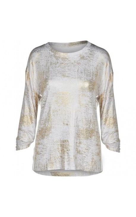 Bluse med guldglimmer
