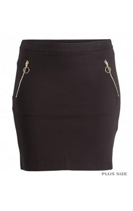ZOEY Nederdel med lynlåse