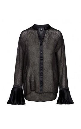 NÜ Skjorte med plissé ærmer