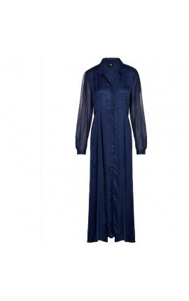 NÜ Camira lang kjole - ocean blue
