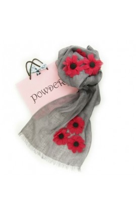 Powder Design Poppy in Linen - Stone