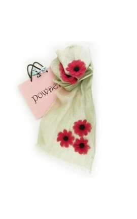 Powder Design Poppy in Linen- Ivory